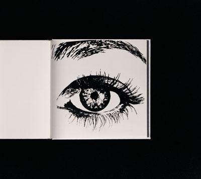 Anne Collier, Eye (Hot Foil Stamping), 2007 C-Print. 127 x 141.732 cm  Courtesy the artist, Marc Foxx, Los Angeles, Corvi-Mora, London & Anton Kern Gallery, New York.