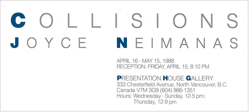 collisions, Gallery Invitation