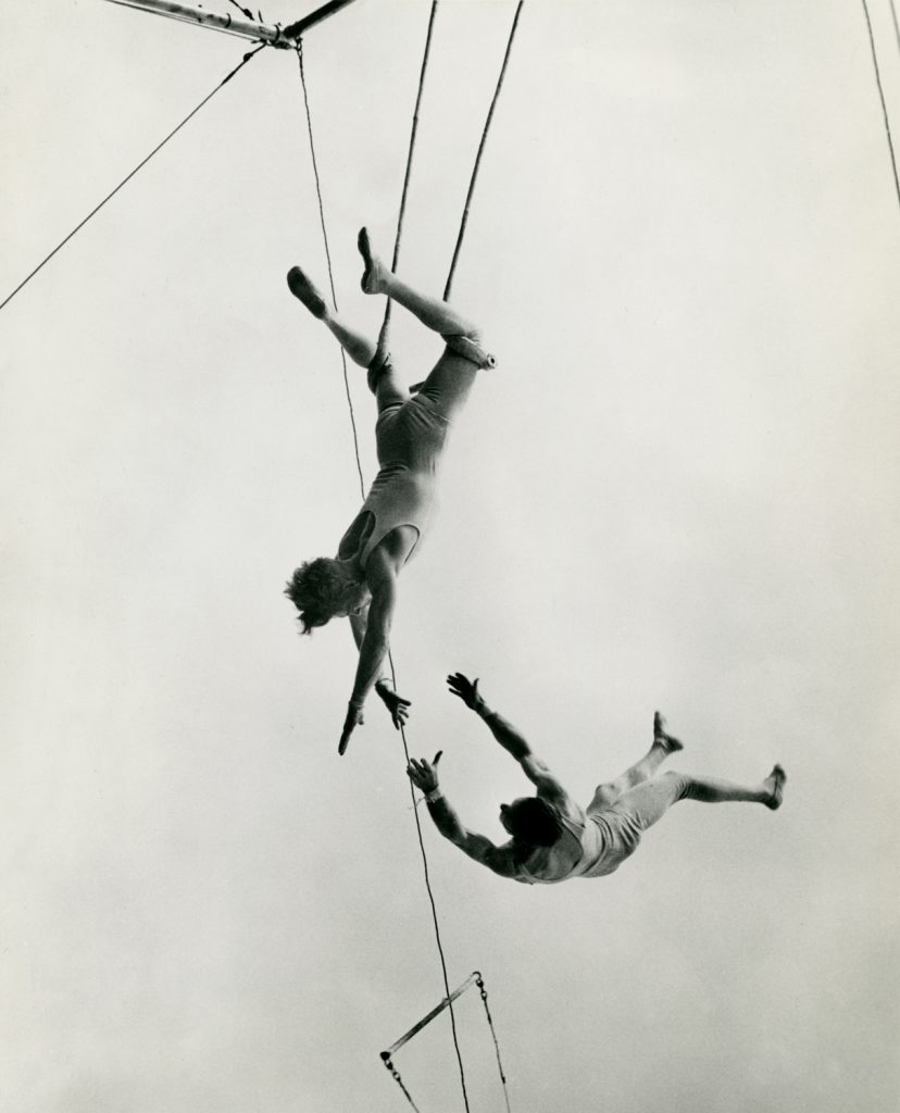 The Flying Concellos, photographer unknown, 1949, silver gelatin print, 19 x 16.5 cm, courtesy Jonah Samson collection
