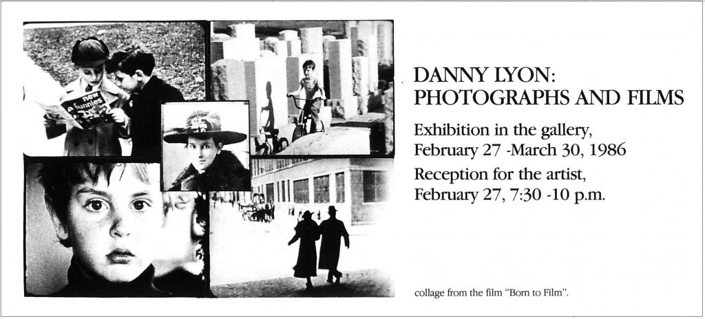 Danny Lyon, Gallery Invitation (1)