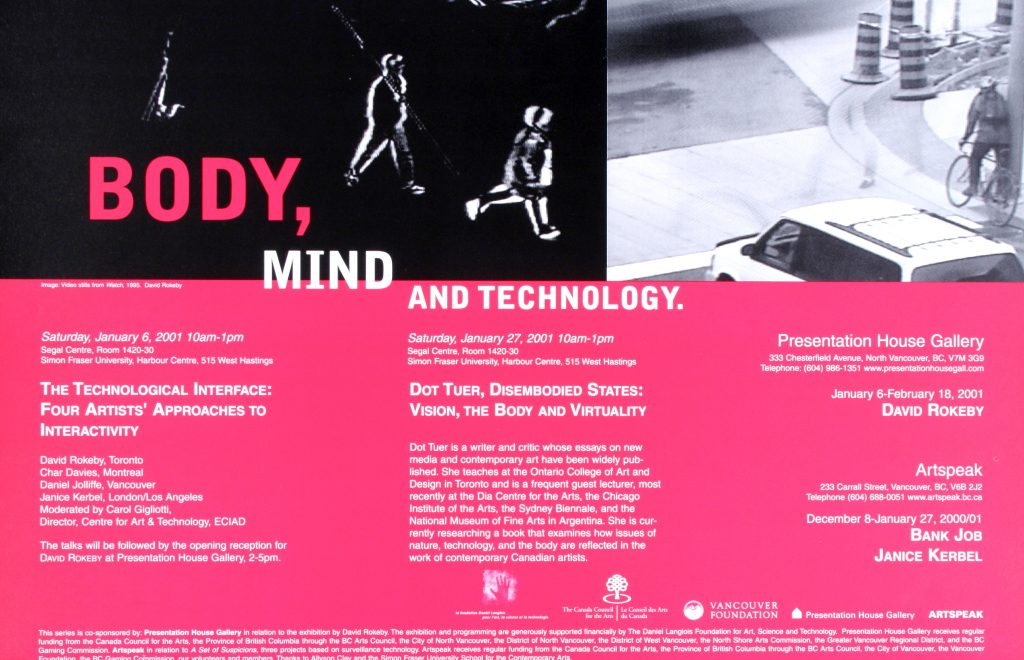 "Poster for the exhibition ""Body, Mind, and Technology"""