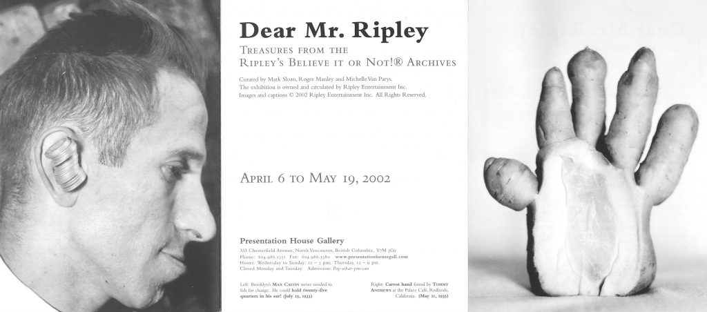 Dear Mr. Ripley, Gallery Invitation - front