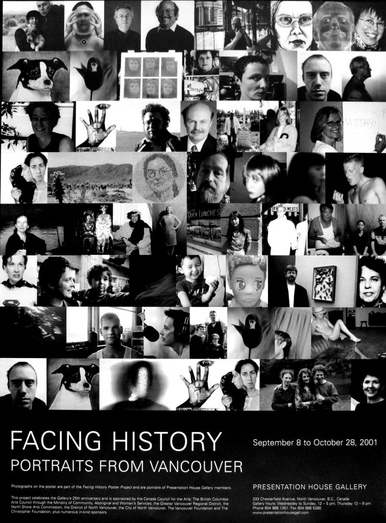 "Poster for the exhibition ""Facing History: Portraits from Vancouver"""