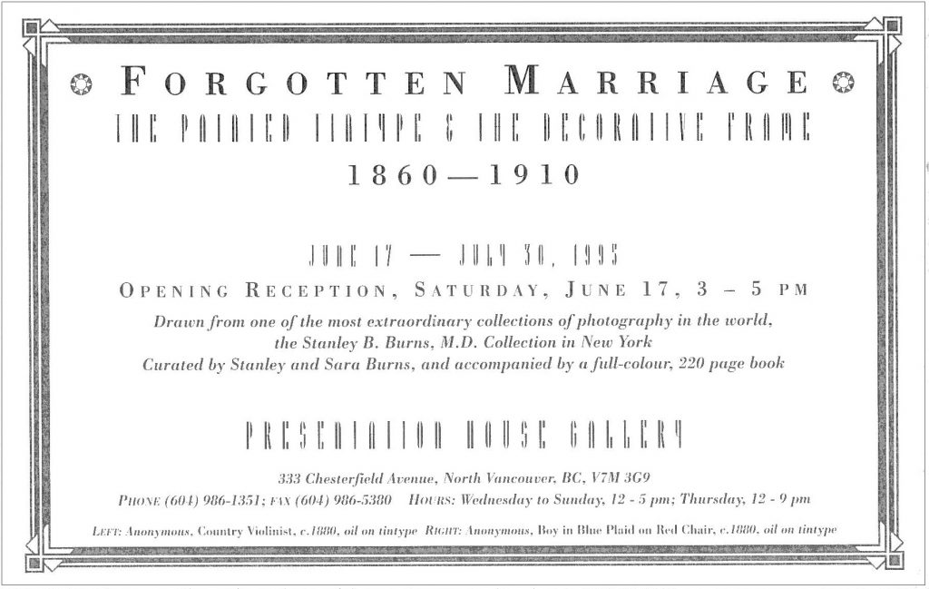 Forgotten Marriage, Gallery Invitation - back