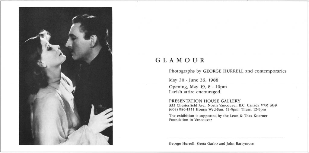 Glamour, Gallery Invitation