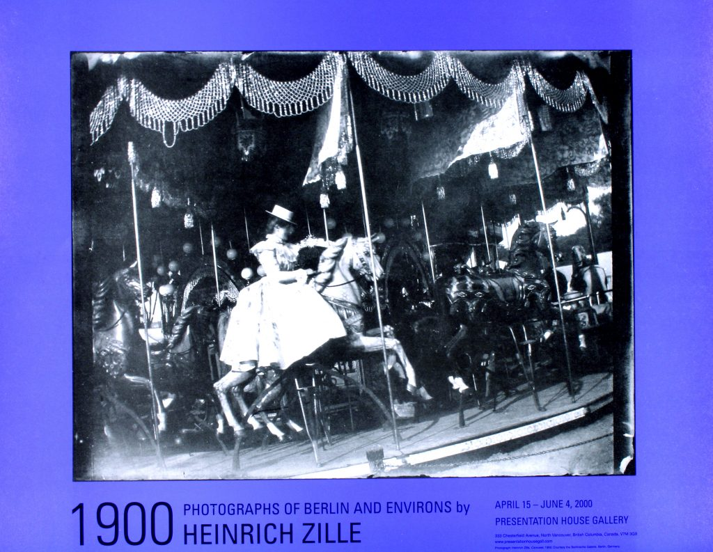 "Poster for the exhibition ""1900 Photographs of Berlin and environs by Heinrich Zille"""