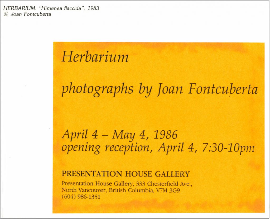 Herbarium Gallery Invitation - back