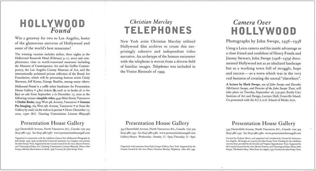 Telephones, Gallery Invitation - back