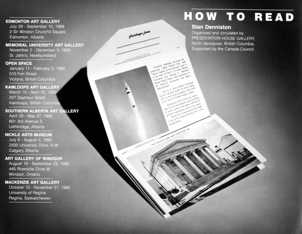 "Poster for the exhibition ""How to Read"""
