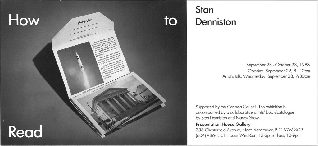 Stan Denniston Gallery Invitation