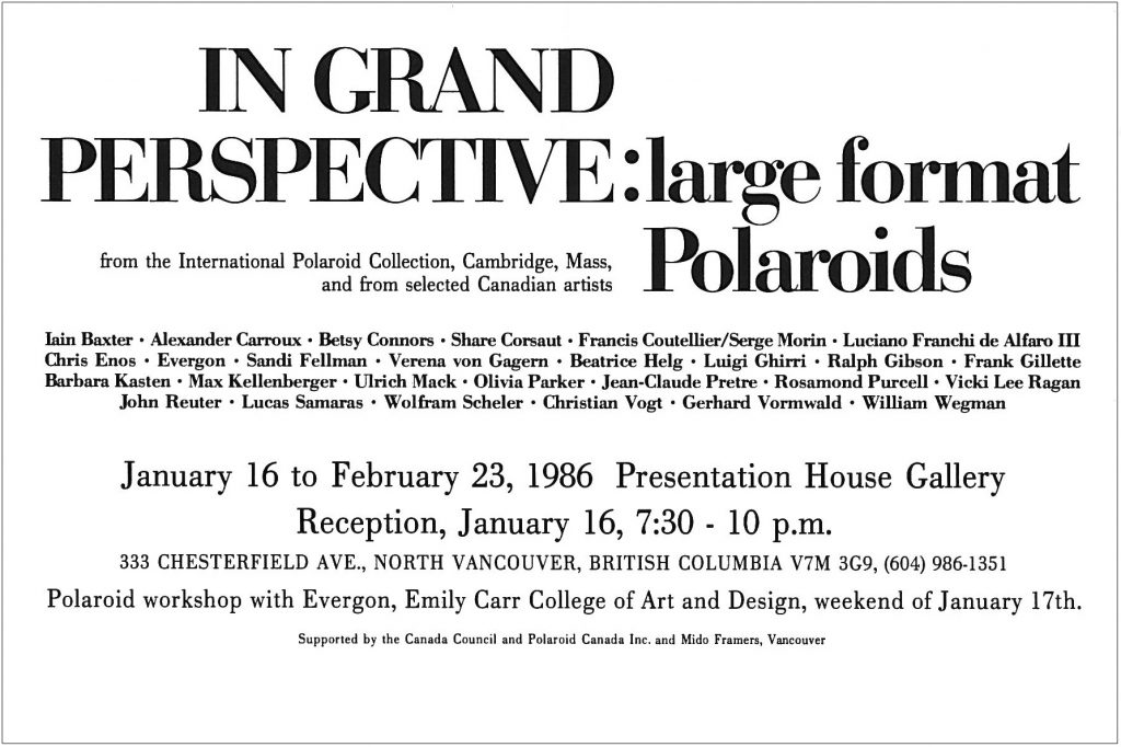 In grand perspective, Gallery Invitation