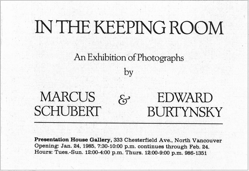 in the keeping room, Gallery Invitation