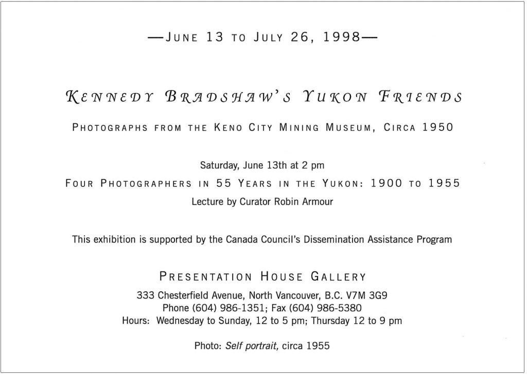 Gallery Invitation - back