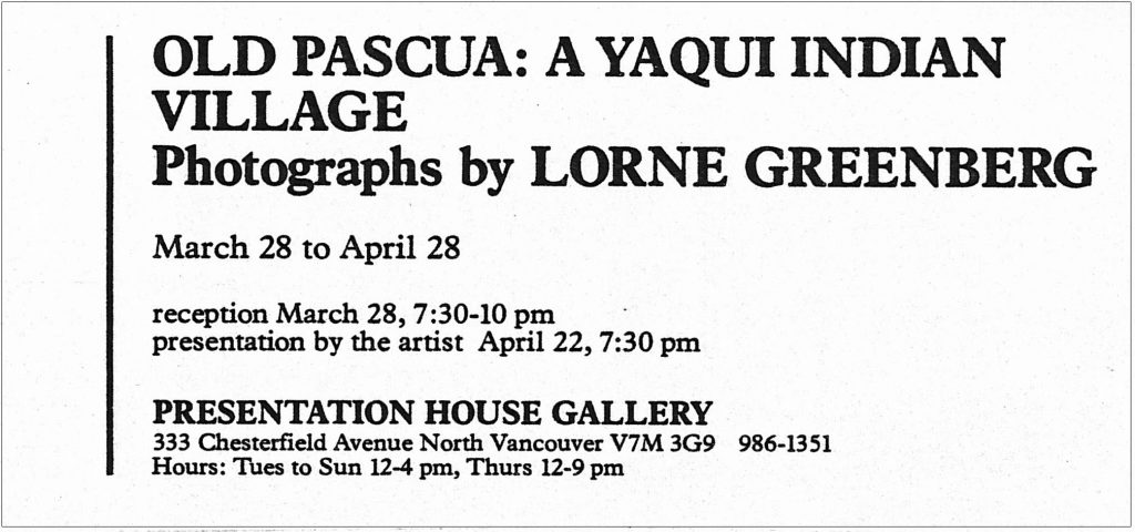 Lorne greenberg, Gallery Invitation