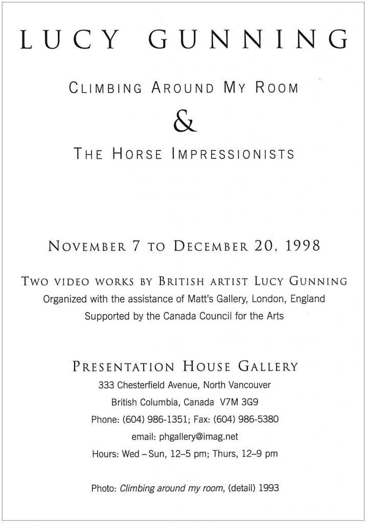 climbing around my room, Gallery Invitation