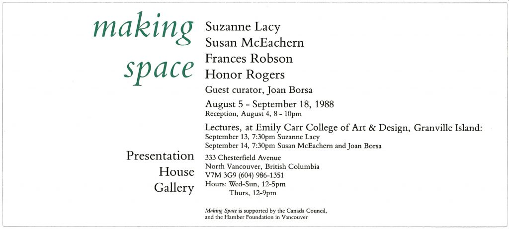 making space, Gallery Invitation
