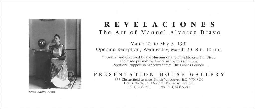 Bravo, revelaciones, Gallery Invitation