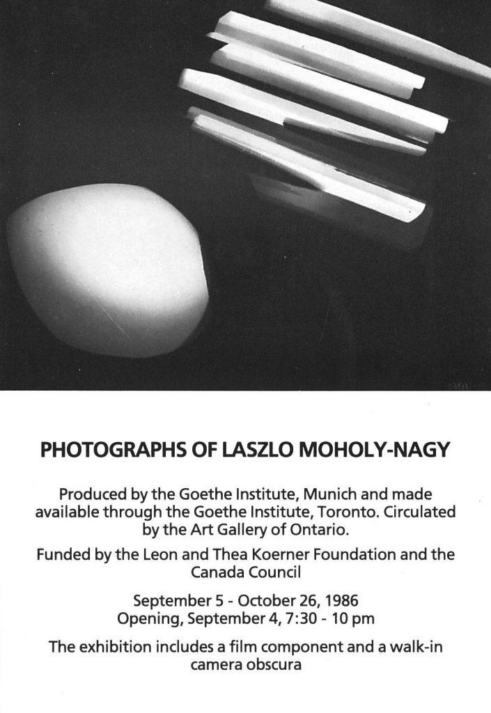 Lazlo Moholy-Nagy, Gallery Invitation