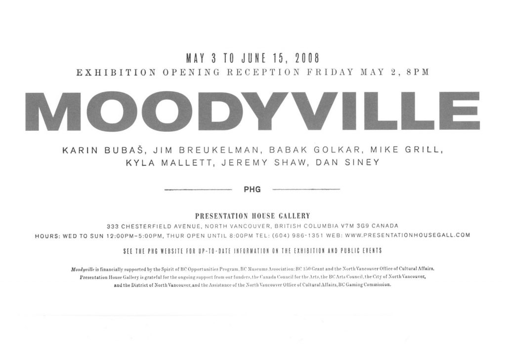 moodyville, Gallery Invitation