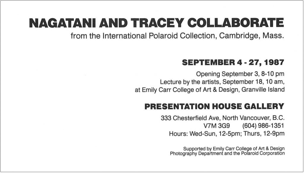 nagatani and tracey collaborate, Gallery Invitation