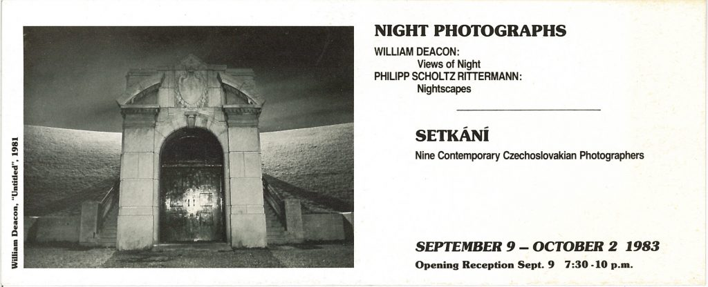 Night Photographs, Gallery Invitation - front