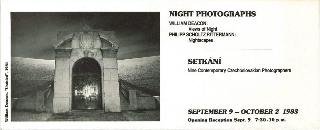 Night Photographs, Gallery Invitation - front