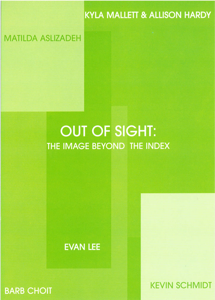Out of sight, Gallery Invitation - front