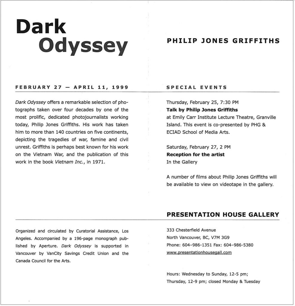 Dark odyssey Gallery Invitation - back