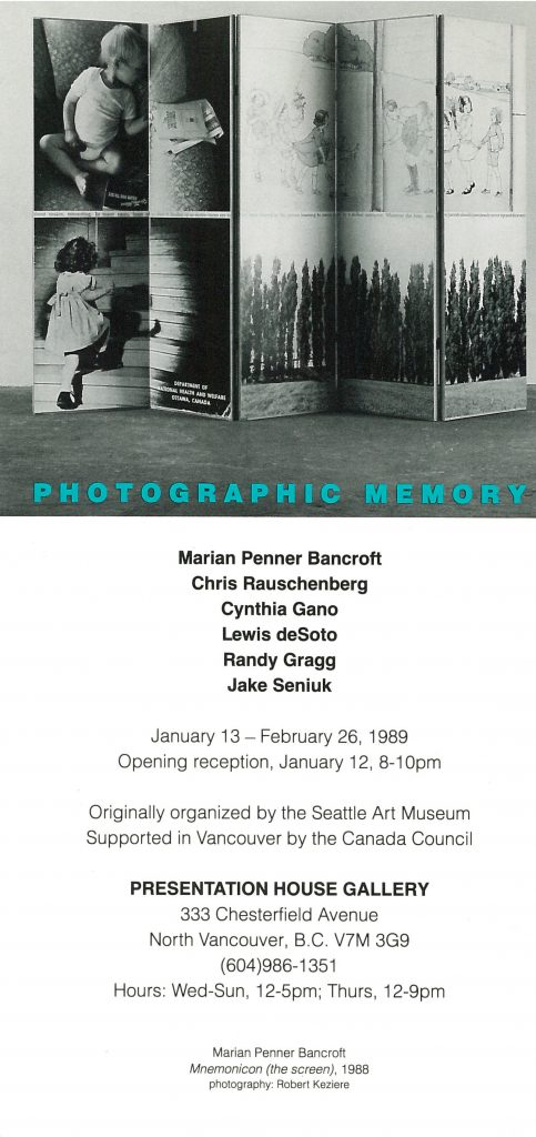 photographic memory, Gallery Invitation