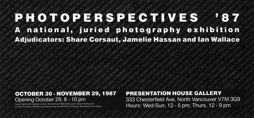 Photoperspectives 87, Gallery Invitation