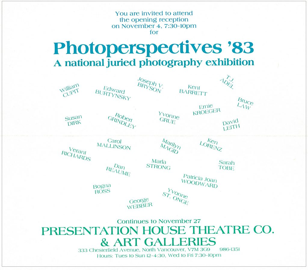 photoperspectives 83, Gallery Invitation