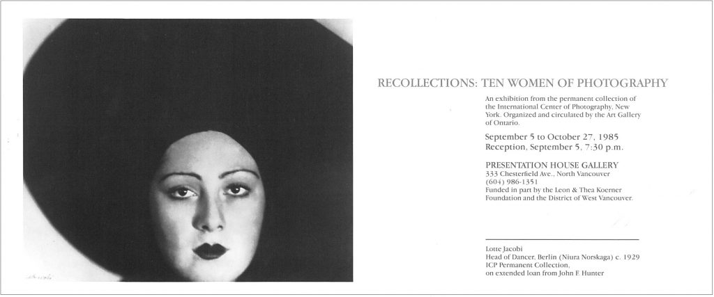 recollections, Gallery Invitation