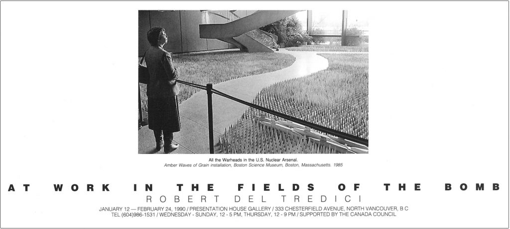 Work in the fields of the bomb, Gallery Invitation