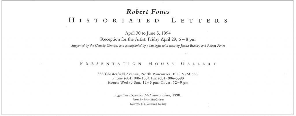 Historiated Letters, Gallery Invitation - back