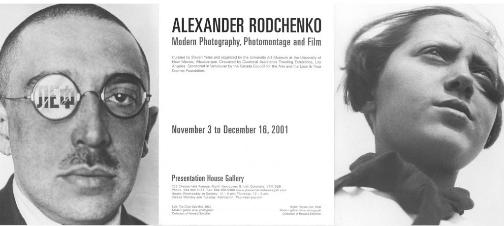Rodchenko, Gallery Invitation - front