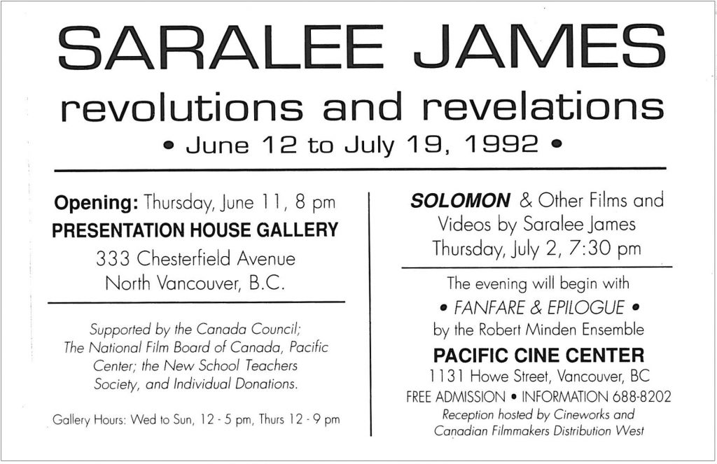 Revolutions and revelations, Gallery Invitation - back