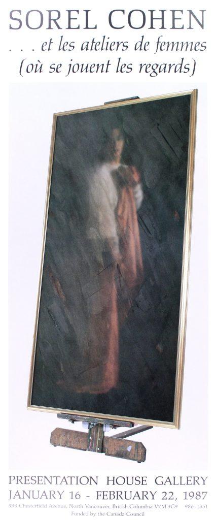 """Poster for the exhibition """"et les ateliers de femmes (ou se jouent les regards)"""""""