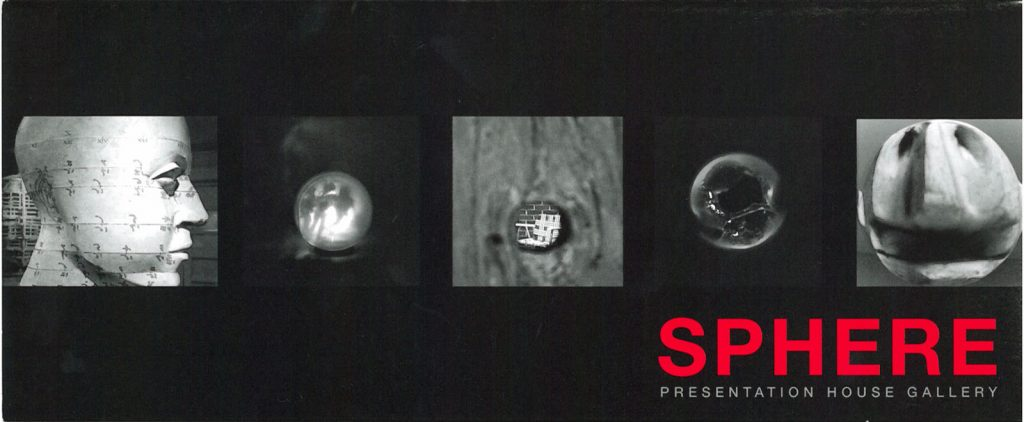Sphere, Gallery Invitation - front