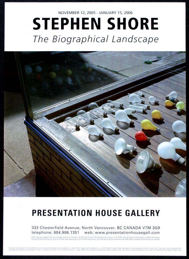 "Poster for the exhibition ""The Biographical Landscape"""