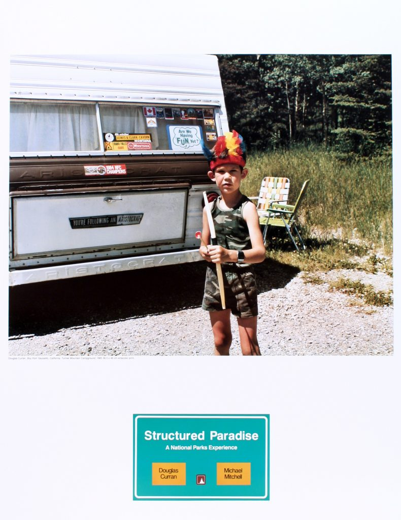 "Poster for the exhibition ""Structured Paradise: A National Parks Experience"""