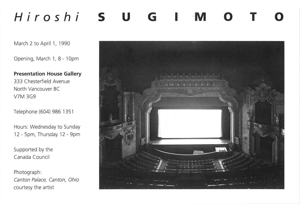 sugimoto, Gallery Invitation
