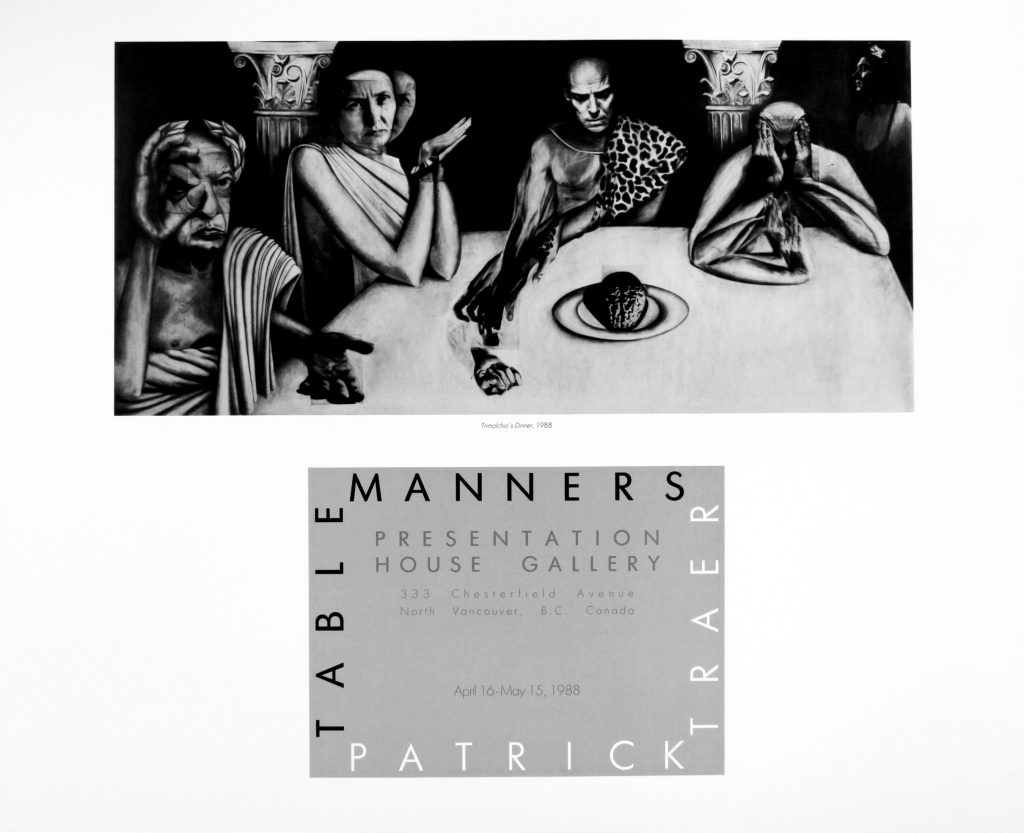 "Poster for the exhibition ""Table Manners"""