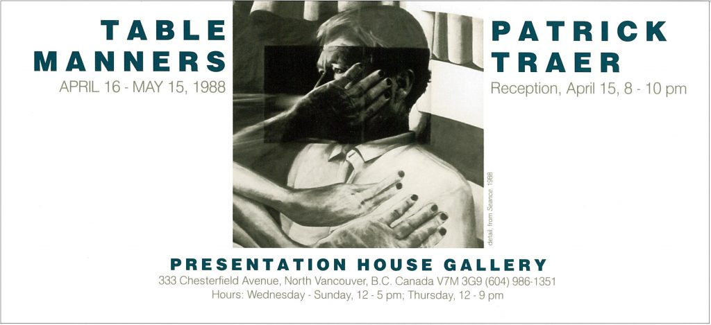 table manners, Gallery Invitation