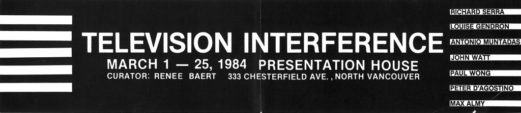 television interference, Gallery Invitation - front