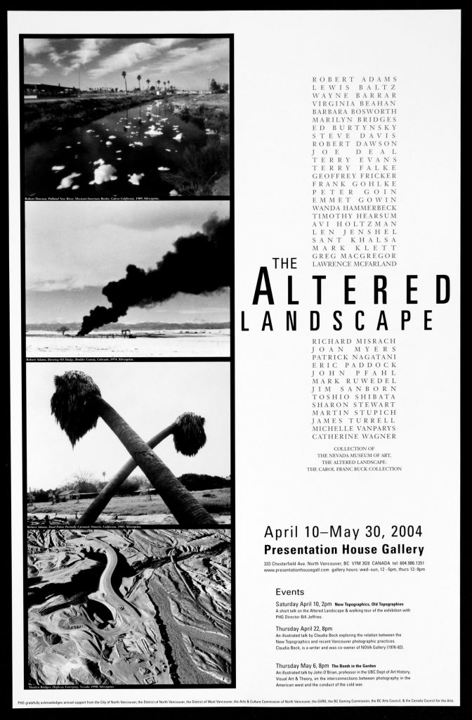 "Poster for the exhibition ""The Altered Landscape"""