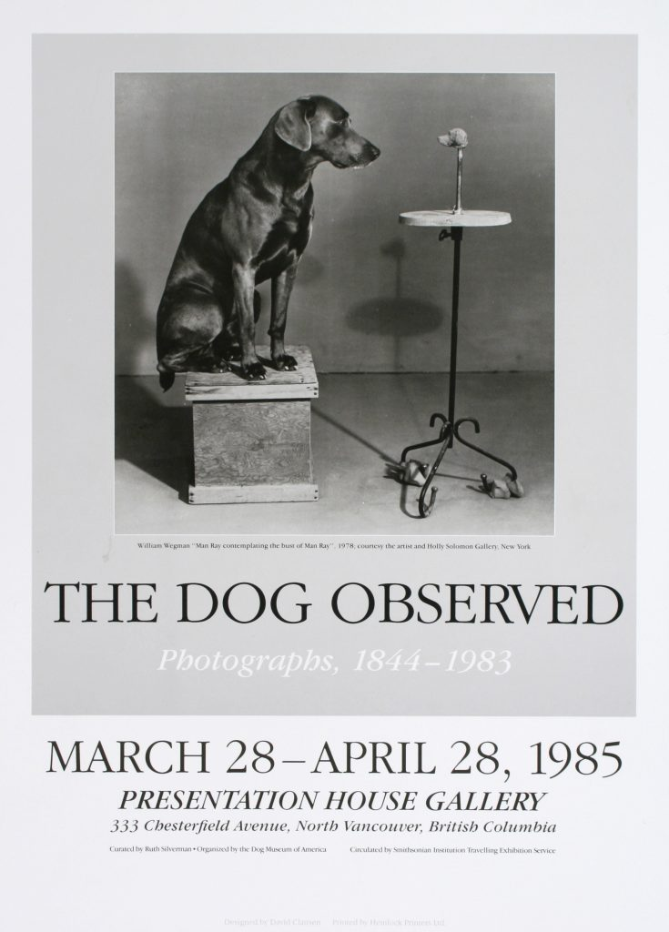 "Poster for the exhibition ""The Dog Observed"""