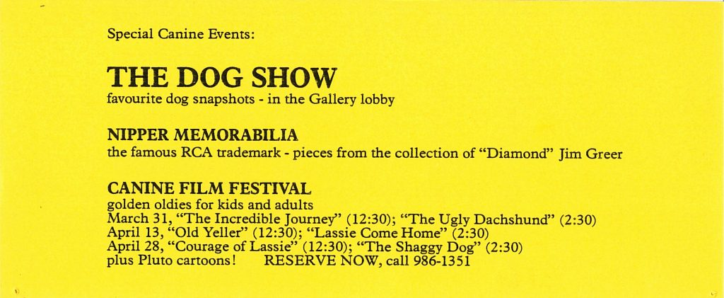 dog show, Gallery Invitation - back