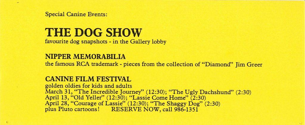 dog show, Gallery Invitation - back