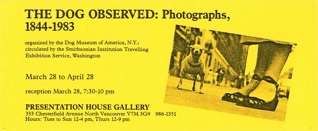 dog show, Gallery Invitation - front