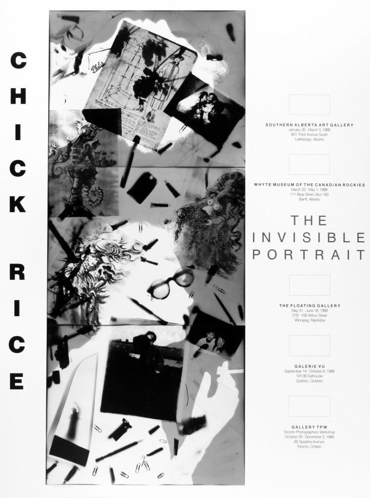 "Poster for the exhibition ""The Invisible Portrait"""